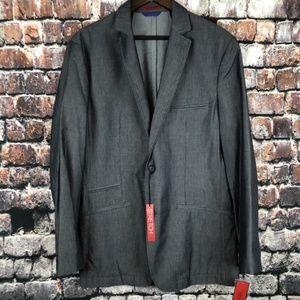 ALFANI NEW Mens Grey Button Jacket Blazer Medium